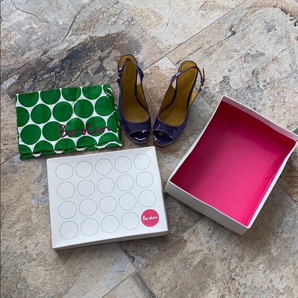 Boden slingback wedges deep purple w box and bag!